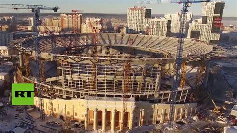 Un dron graba la espectacular remodelación del estadio de ...
