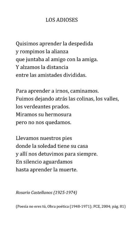 Un poema al día  @unpoemaaldia    Rosario castellanos ...