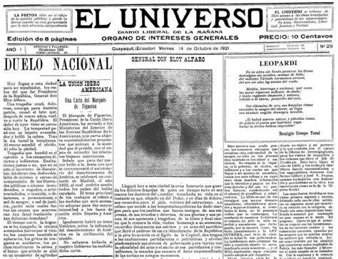 Un repaso a lo que Diario El Universo narró en 95 años ...