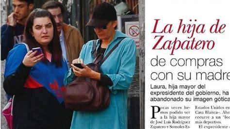 Una de las hijas de Rodríguez Zapatero, abandona su look ...