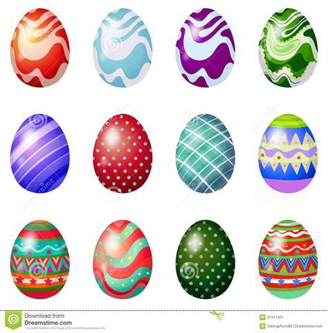 Una Docena De Huevos De Pascua Pintados Ilustración del ...