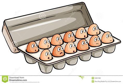 Una docena de huevos ilustración del vector. Ilustración ...
