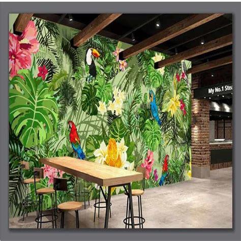 Una guía para colocar murales tropicales en la pared