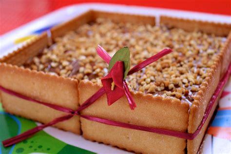 ¿Una tarta cuadrada de galletas Napolitanas y Nutella?