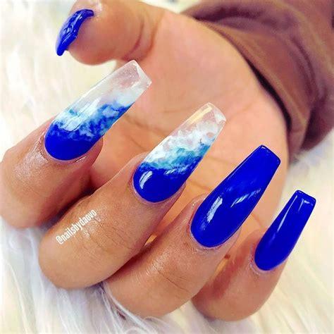 uñas acrilicas efecto agua para verano | Diseños de uñas ...