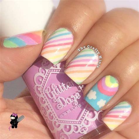 uñas arco iris facil para niñas #uñasparaniñas #nailart # ...