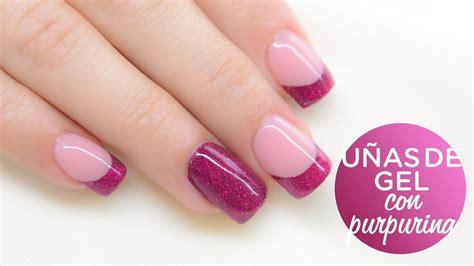 Uñas de gel decoradas con purpurina   Nailart Glitter ...