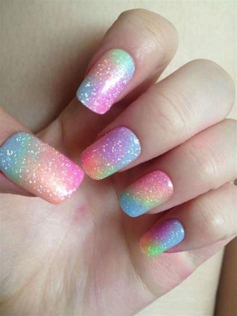 uñas para niñas efecto arcoiris #uñasparaniñas #nailart # ...