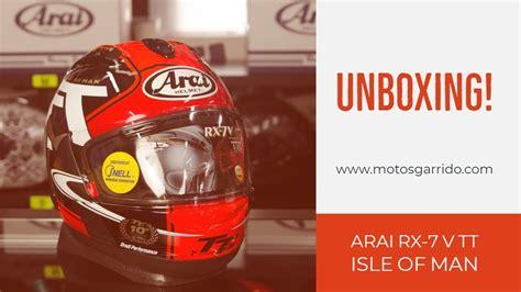 Unboxing casco Arai Tourist Trophy Isle Of Man 2018 ...