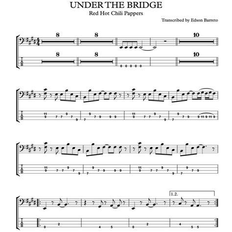 UNDER THE BRIDGE  RHCP  Bass Score & Tab Lesson | Hotmart