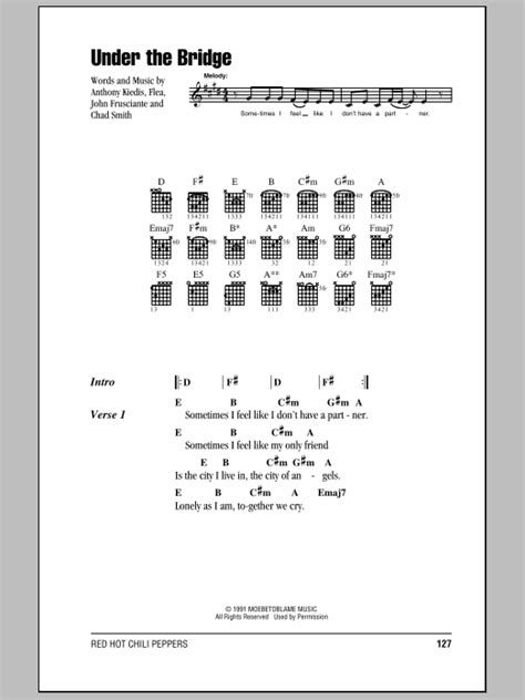 Under The Bridge | Sheet Music Direct