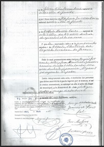 Understanding Spanish Birth Certificates | The Genealogy ...