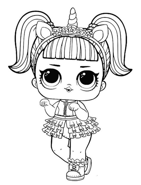 Unicorn Lol Doll Coloring Page | adriana | Imprimir ...