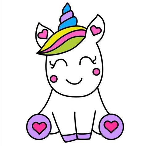 Unicorn | Unicorn drawing, Cute easy drawings, Easy drawings