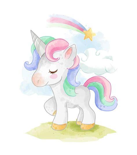 unicornio con arcoiris   Descargar Vectores Gratis ...