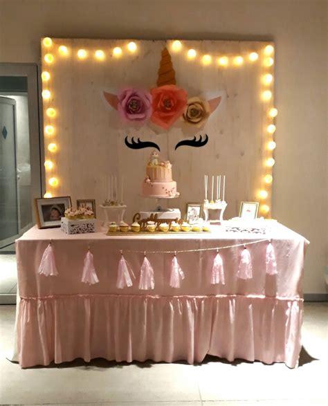 Unicornio Decoración Cumpleaños Babyshowers Mesa Dulces ...