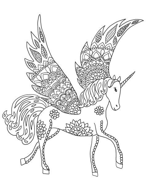 Unicornio descargables para colorear página adulto para | Etsy