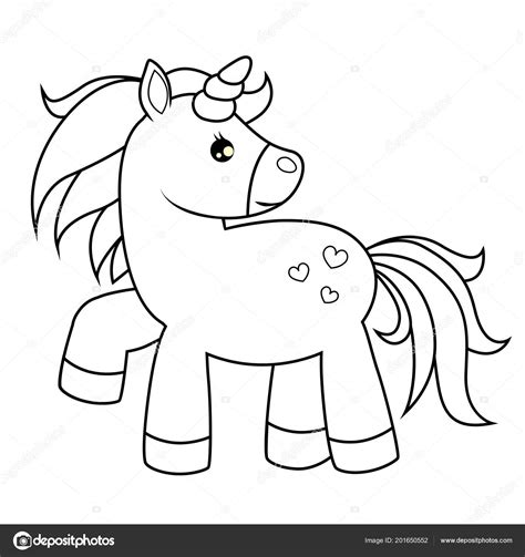 Unicornio Dibujos Animados Lindo Ilustración Vector Blanco ...