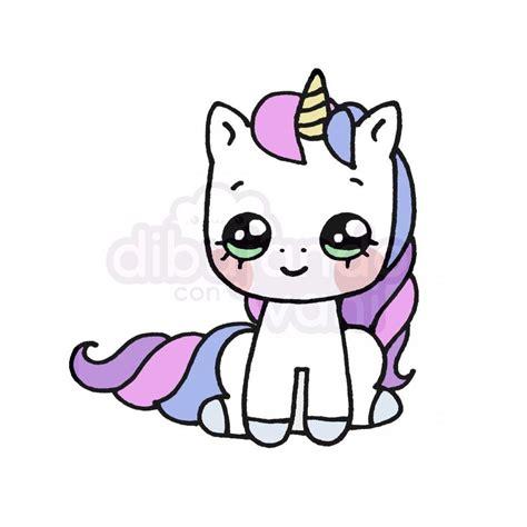 unicornio kawaii 1 – Dibujando con Vani