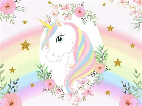Unicornio Para Cumpleaños Fondo Mesa Principal   $ 28,00 ...