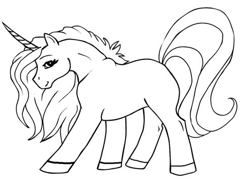 Unicornio – dibujos infantiles para colorear