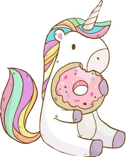 Unicornio sticker tumblr kawai tierno galleta...
