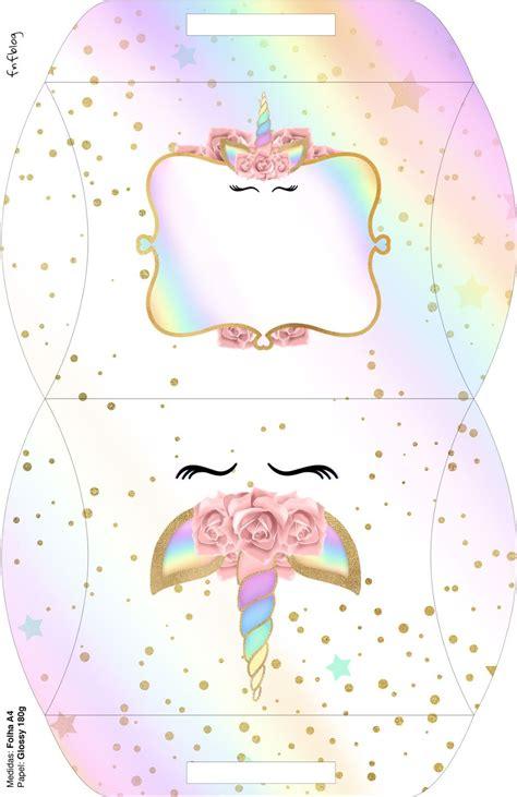 Unicornio y Arco Iris: Cajas para Imprimir Gratis ...