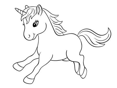 Unicornios Para Colorear: [45 Dibujos Para Imprimir y Pintar]