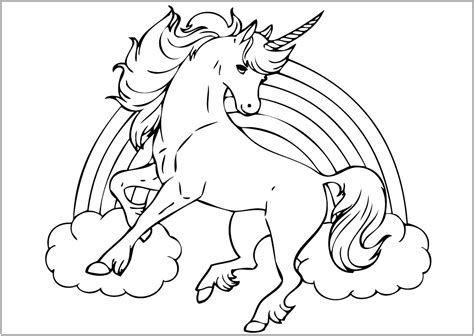Unicorns to download   Unicorns Kids Coloring Pages