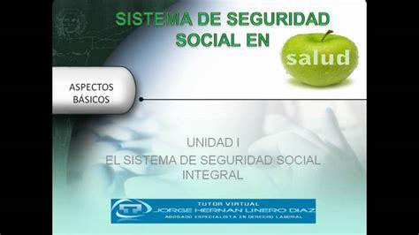 Unidad I Sistema de Seguridad Social Integral   YouTube