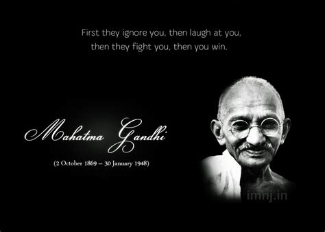 Unit Twenty Two Quotes: Mahatma Gandhi Quotes