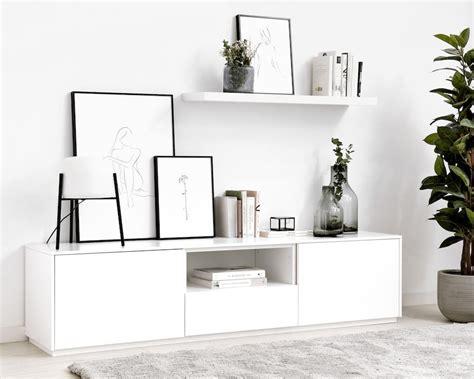 Unite mueble de TV 180 cm blanco en 2020 | Muebles para tv ...