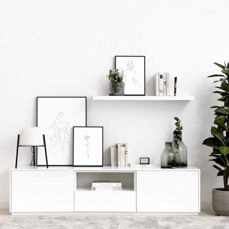 Unite mueble de TV 180 cm blanco   Kenay Home | Muebles ...