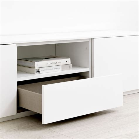Unite mueble de TV 180 cm blanco   Kenay Home