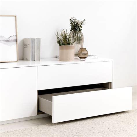 Unite mueble de TV 200 cm blanco   Kenay Home