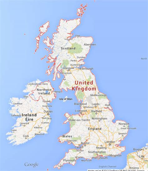 United kingdom google maps and travel information ...