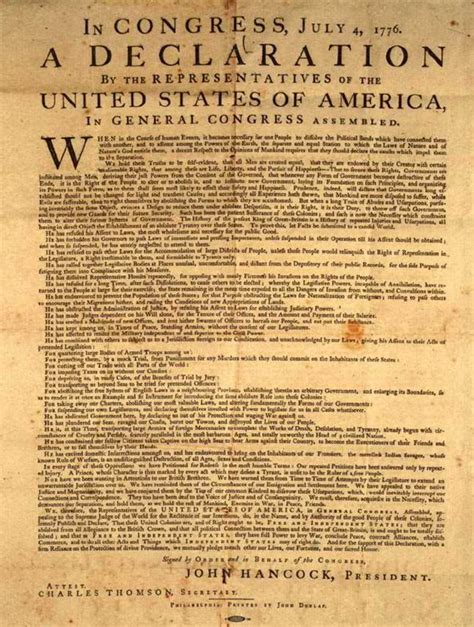 United States Declaration of Independence