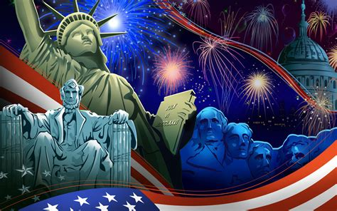United States Independence Day 4 July Statue Of Liberty ...