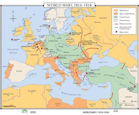 Universal Map World History Wall Maps   World War I 1914 ...