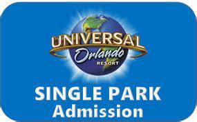 Universal Orlando Resort Theme Park Base Tickets