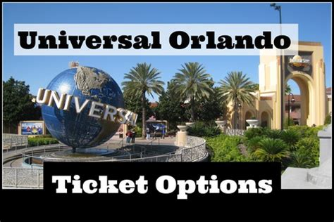 Universal Orlando Resort Theme Park Ticket Options