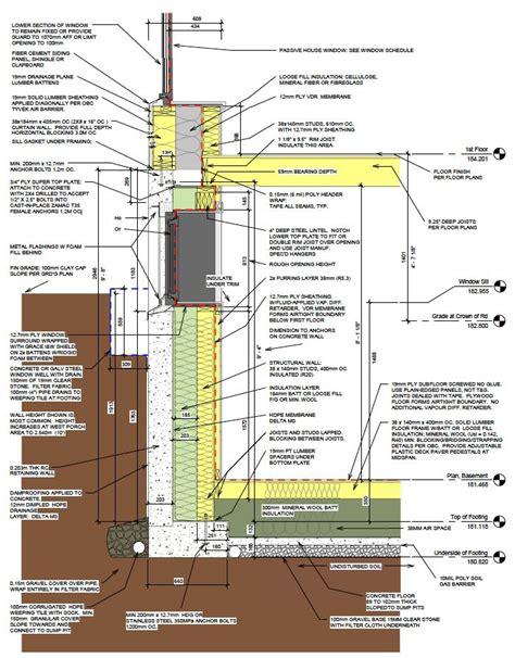 Unusual foundation details: Structural wood framed walls ...
