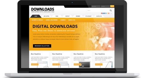 Upcoming Free Or Paid Digital / Software Downloads Theme