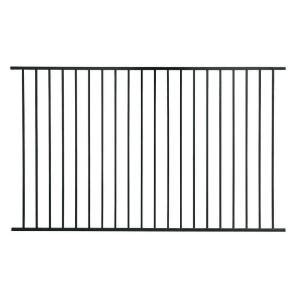 US Door & Fence Pro Series 4.84 ft. H x 7.75 ft. W Black ...