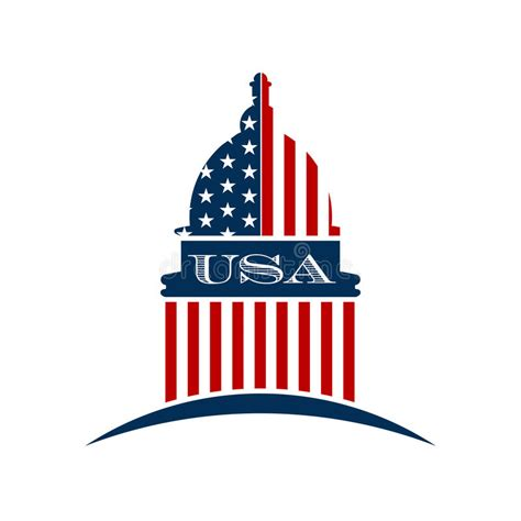 USA Government Capitol Logo Stock Vector   Illustration of ...