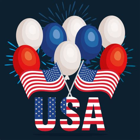 Usa independence day celebration poster | Free Vector
