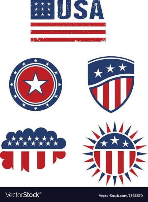 USA star flag design elements logo Royalty Free Vector Image