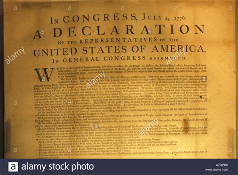 USA, Washington DC. Declaration of Independence at the ...