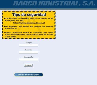 : Usando Bi en linea o por telefono del Banco Industrial ...