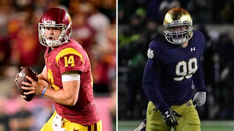 USC, Sam Darnold treating rival Notre Dame as  playoff ...